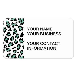 Modelo negro del estampado de animales del leopard tarjeta de negocio