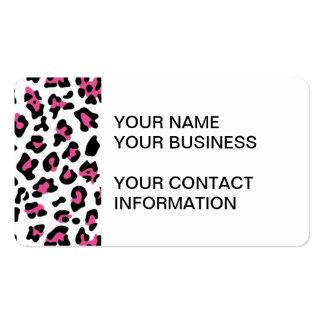 Modelo negro del estampado de animales del leopard tarjeta personal