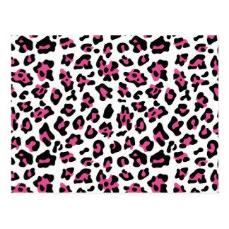 Modelo negro del estampado de animales del leopard tarjeta postal