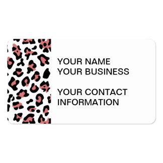 Modelo negro del estampado de animales del leopard tarjetas de visita
