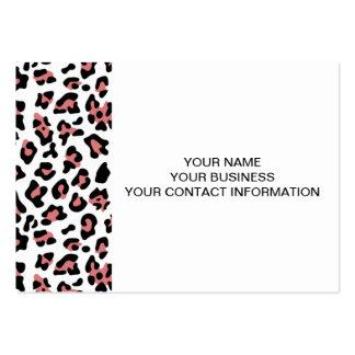 Modelo negro del estampado de animales del leopard tarjetas de visita grandes