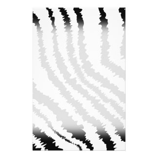 Modelo negro del estampado de zebra folleto 14 x 21,6 cm