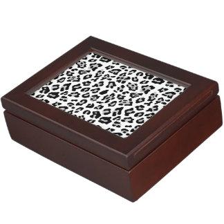 Modelo negro gris del estampado de animales del caja de recuerdos