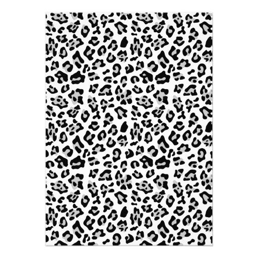 Modelo negro gris del estampado de animales del le comunicado