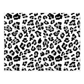 Modelo negro gris del estampado de animales del le tarjeta postal