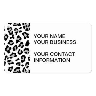 Modelo negro gris del estampado de animales del le tarjetas de visita