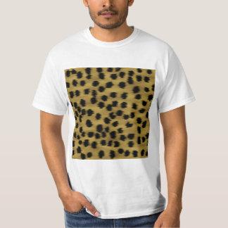 Modelo negro y de oro de la impresión del guepardo camiseta