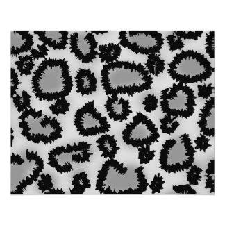 Modelo, negro y gris del estampado leopardo folleto 11,4 x 14,2 cm