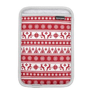 Modelo nórdico del día de fiesta del navidad funda para iPad mini