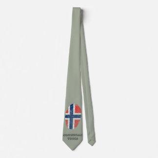 Modelo noruego de la huella dactilar del tacto corbatas personalizadas