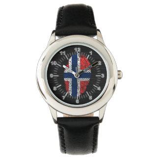 Modelo noruego de la huella dactilar del tacto reloj