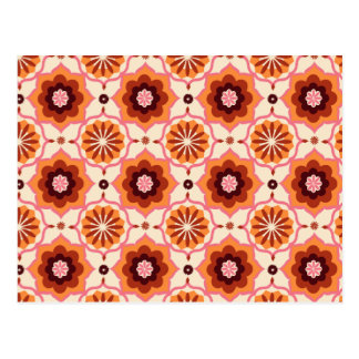 Modelo oriental anaranjado postal