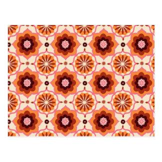 Modelo oriental anaranjado postales