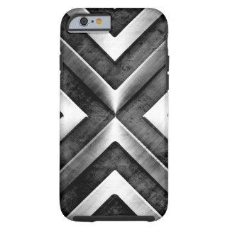 Modelo oscuro masculino fresco del acero del metal funda para iPhone 6 tough