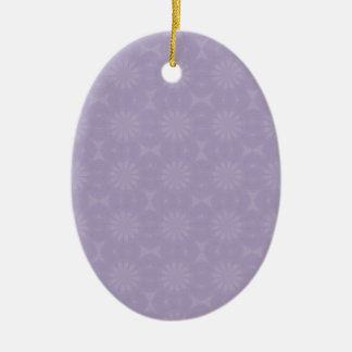 Modelo pálido de la lila adorno ovalado de cerámica