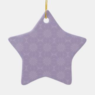 Modelo pálido de la lila adorno de cerámica en forma de estrella