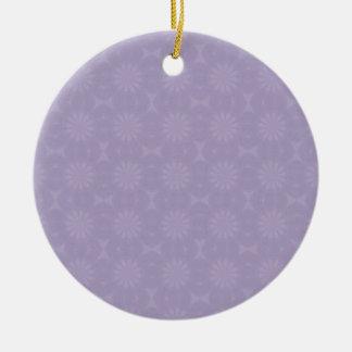 Modelo pálido de la lila adorno redondo de cerámica