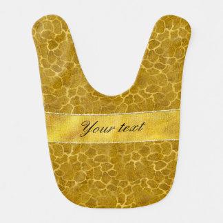 Modelo personalizado de la piel de la jirafa de la baberos para bebé