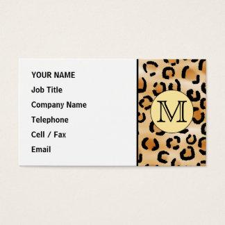 Modelo personalizado del estampado leopardo del tarjeta de visita