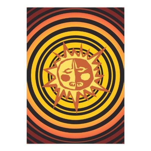 Modelo primitivo tribal del dibujo del hombre de l invitacion personalizada