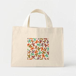 Modelo psico de Pascua colorido Bolso De Tela Diminuto
