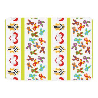 Modelo psico de Pascua colorido Invitación 12,7 X 17,8 Cm