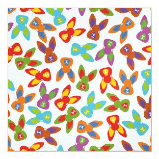 Modelo psico de Pascua colorido Invitación 13,3 Cm X 13,3cm