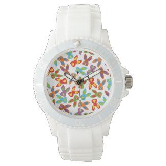 Modelo psico de Pascua colorido Reloj De Pulsera