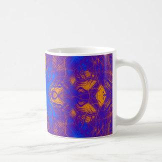 Modelo psicodélico púrpura taza de café
