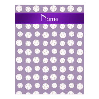 Modelo púrpura conocido personalizado de los folleto 21,6 x 28 cm
