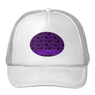 Modelo púrpura conocido personalizado del montar a gorro