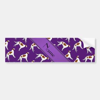 Modelo púrpura conocido personalizado del perro pegatina para coche