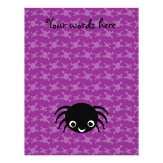Modelo púrpura de los cráneos de la araña linda folleto 21,6 x 28 cm