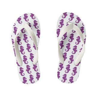 Modelo púrpura de los Seahorses Chanclas Para Niños