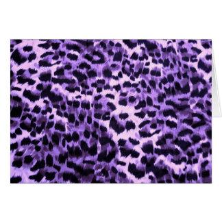 Modelo púrpura del estampado de animales tarjeta