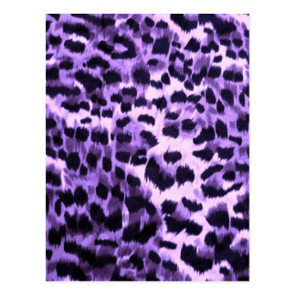 Modelo púrpura del estampado de animales postal