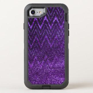 Modelo púrpura elegante de Chevron de la pendiente Funda OtterBox Defender Para iPhone 8/7
