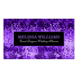 Modelo púrpura elegante de la textura del brillo tarjetas de visita