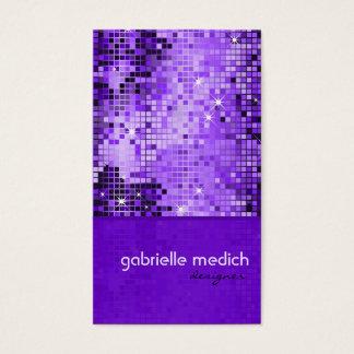 Modelo púrpura elegante del brillo de la secuencia tarjeta de negocios