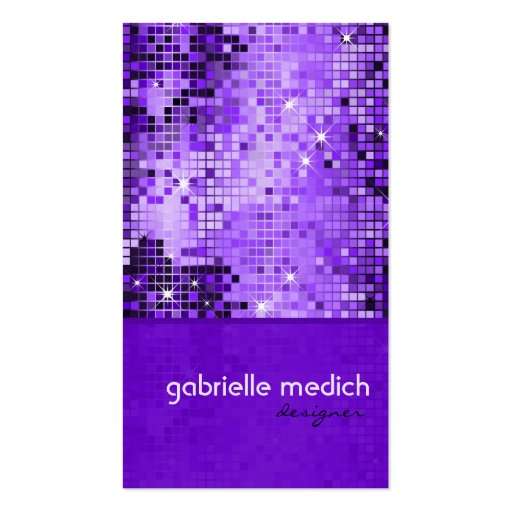 Modelo púrpura elegante del brillo de la secuencia plantillas de tarjetas de visita