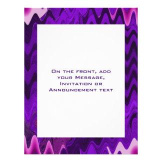 modelo púrpura flyer personalizado