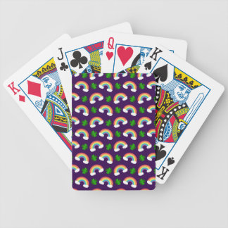 Modelo púrpura lindo de los tréboles de los arco i baraja cartas de poker