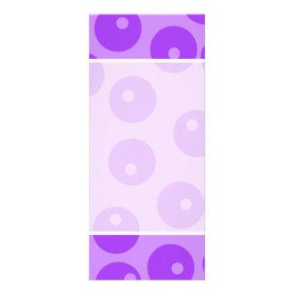 Modelo púrpura retro de los círculos anuncios personalizados