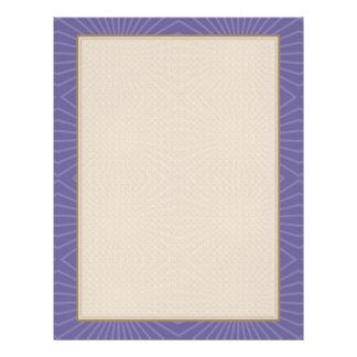Modelo púrpura sometido de Starburst Folleto 21,6 X 28 Cm