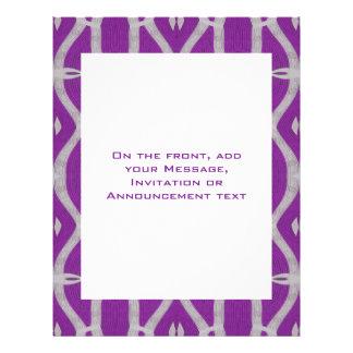 modelo púrpura tarjeta publicitaria