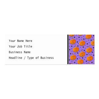 Modelo púrpura y anaranjado de Halloween Tarjetas De Visita