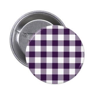 Modelo púrpura y blanco de la guinga chapa redonda 5 cm