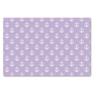 Modelo púrpura y blanco de la lila náutica del papel de seda