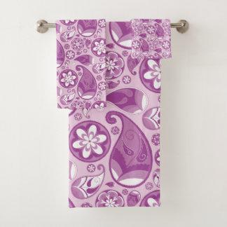 Modelo púrpura y blanco de Paisley