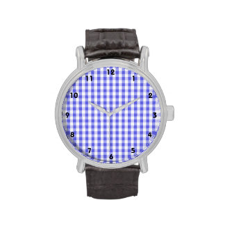 Modelo púrpura y blanco violeta de la guinga reloj de mano